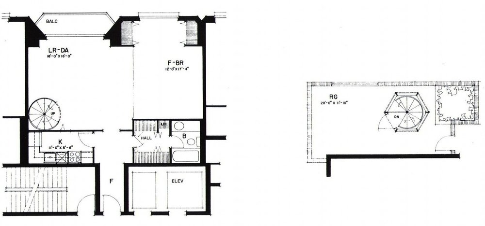 One bedroom with Roofdeck (Typical)