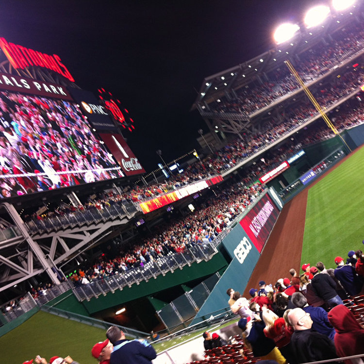 Nationals Park, home of Major League Baseball's Washington Nationals is just a few blocks from Harbour Square.