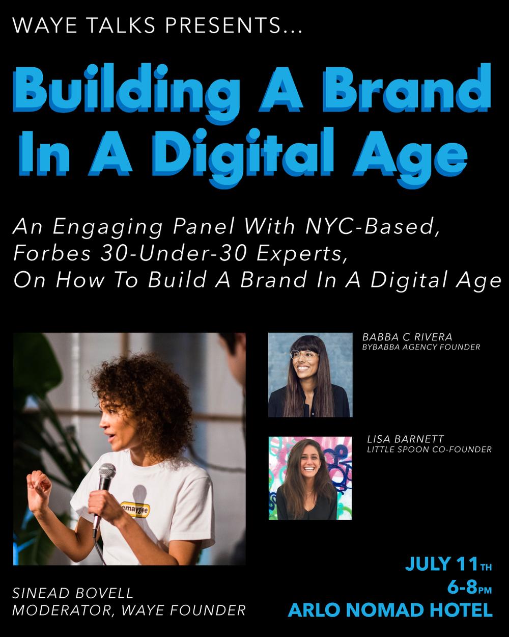 WAYE Talks - Building a Brand in a Digital Age