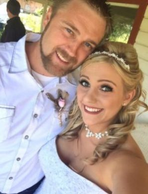 Newly married – Paige and Dave Gore