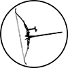 recurve bow icon