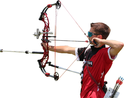 archer with compound bow