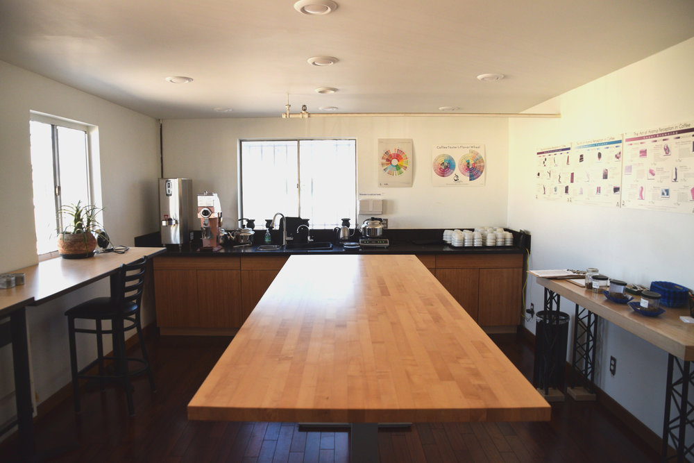 The CoRo Cupping Room and QC Lab for professional cuppings and product development.