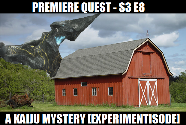 s3 e8 - a kaiju mystery [experimentisode] - This week's episode is a little bit different. Usually the hosts will record together. This time, as mentioned by Squire Heath in the introduction, the hosts recorded separately. Richard recorded his part deep in the New Zealand wilderness. Luke recorded after Richard, in an abandoned oboe factory. The result is pure podcast gold.