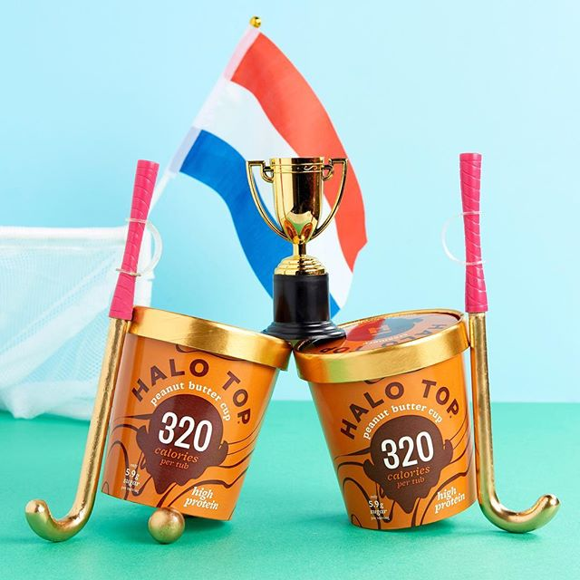 Hou je hoofd koel! Ook in het heetst van de strijd... . . . .  #halotopcreamery #lowcalorie #highprotein #icecream #ijs #delicious #motivation #healthylifestyle #fitdutchies #hockeynl