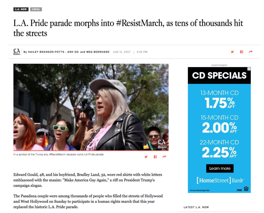 LA Times Coverage - Click to read