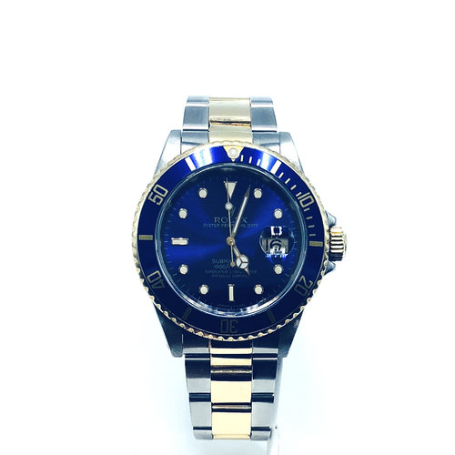 1990 Rolex Submariner Stainless Steel And Yellow Gold With Blue