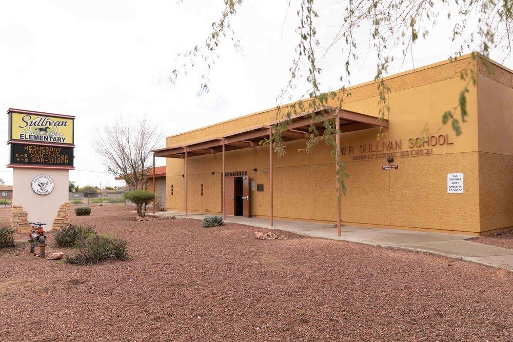 The front of Sullivan Elementary School