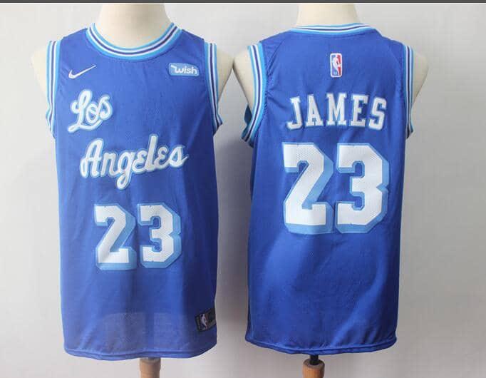 5f1add815 LBJ LIMITED EDITION Blue and White Lakers Throwback — Jersey Cave