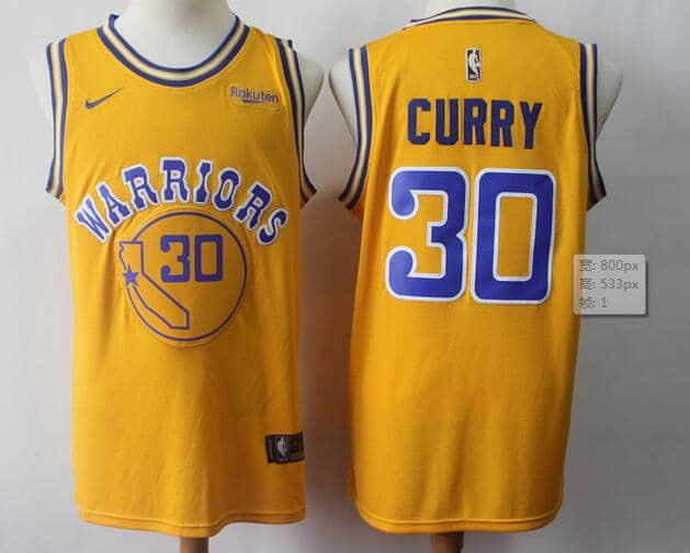 innovative design 06bc9 9776a Stephen Curry Yellow Warriors Throwback — Jersey Cave