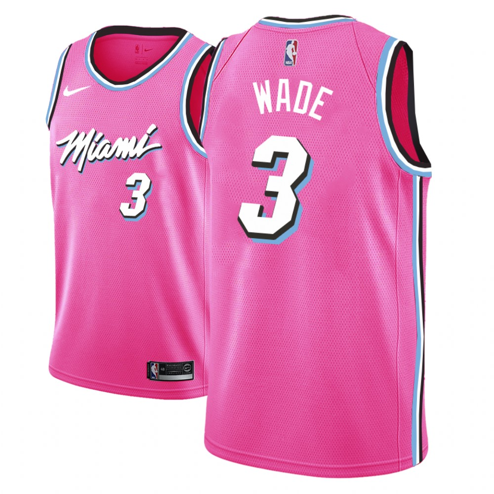 fa9d9623cf8 Dwyane Wade Earned Edition Jersey (Pink) — Jersey Cave