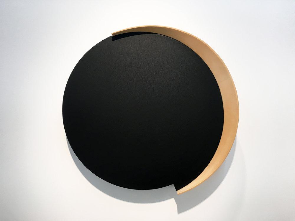 Roxy , 1997 acrylic on canvas, wood 32-1/2 x 35 x 7 inches