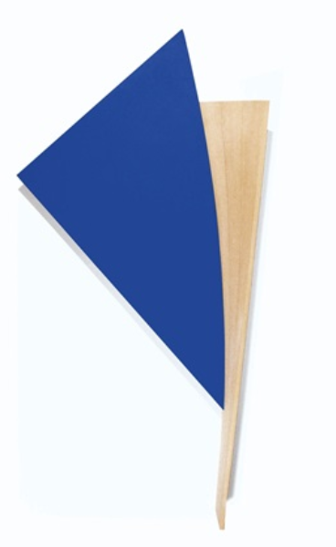 Bluey, Bluey , 1992 acrylic on canvas, wood 88 x 47 x 9 inches