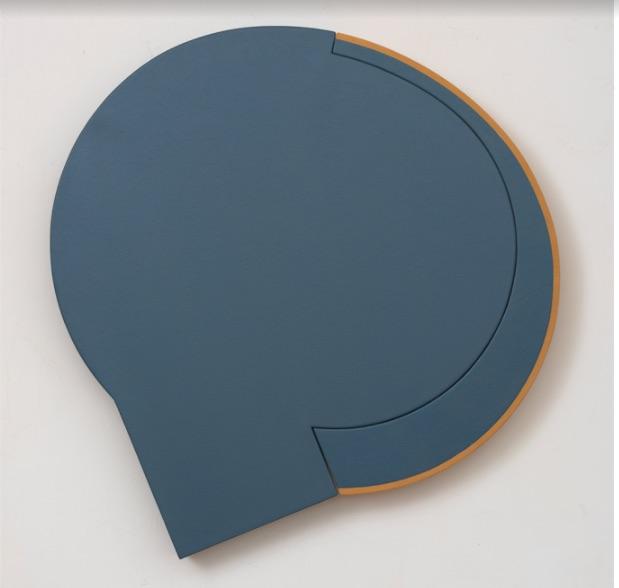 Hoo Doo , 1985 oil on canvas, wood 36 x 36 inches