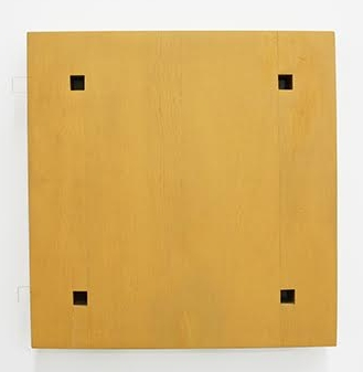 Magic Box (4) , 1972 wood and plastic 13-1/2 x 13-1/2 x 1-3/4 inches