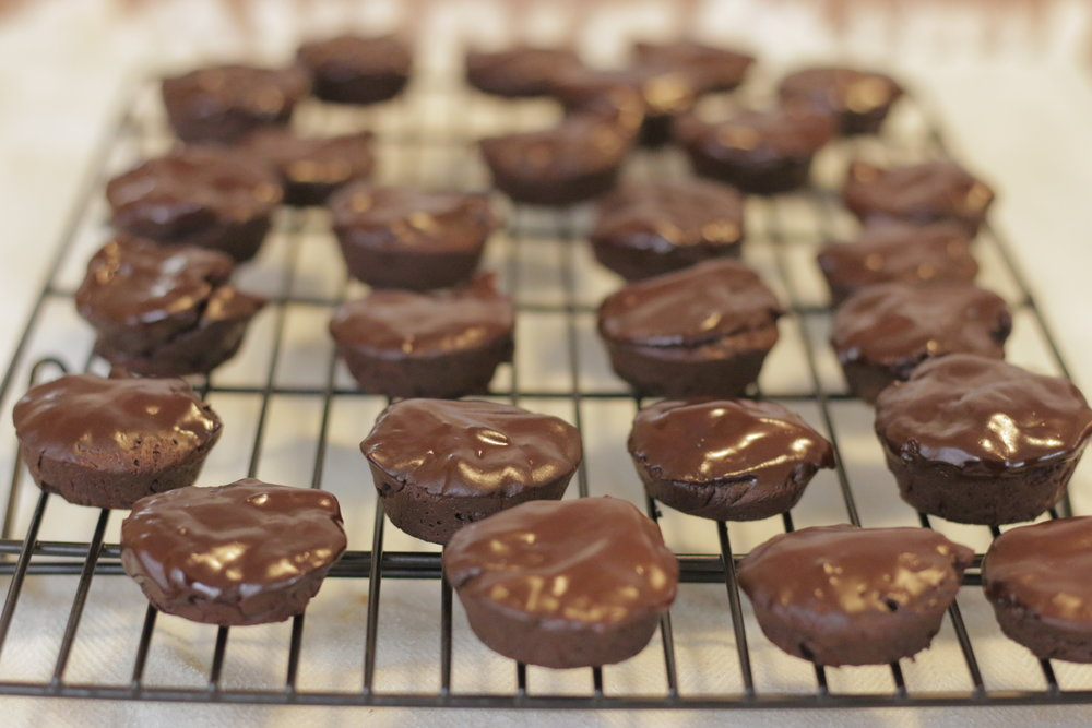Mini Flourless Chocolate Cakes -