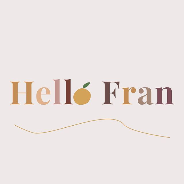 🍊🍎🍐 I'm very excited to share the branding project I did for @hello.franallen, including a website  to match her impeccable style. Check it out at 🧡hellofran.co🧡and follow her for all kinds of delicious food inspiration!