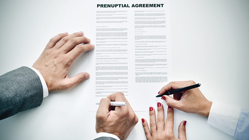 Spouses can agree to terminate alimony through a premarital contract. However, a spouse who seeks state financial assistance following a divorce because he or she was deprived alimony under a prenup, can have the alimony portions of the agreement set aside. A prenuptial agreement doesn't have to divide assets equally, but it can't leave one spouse destitute.