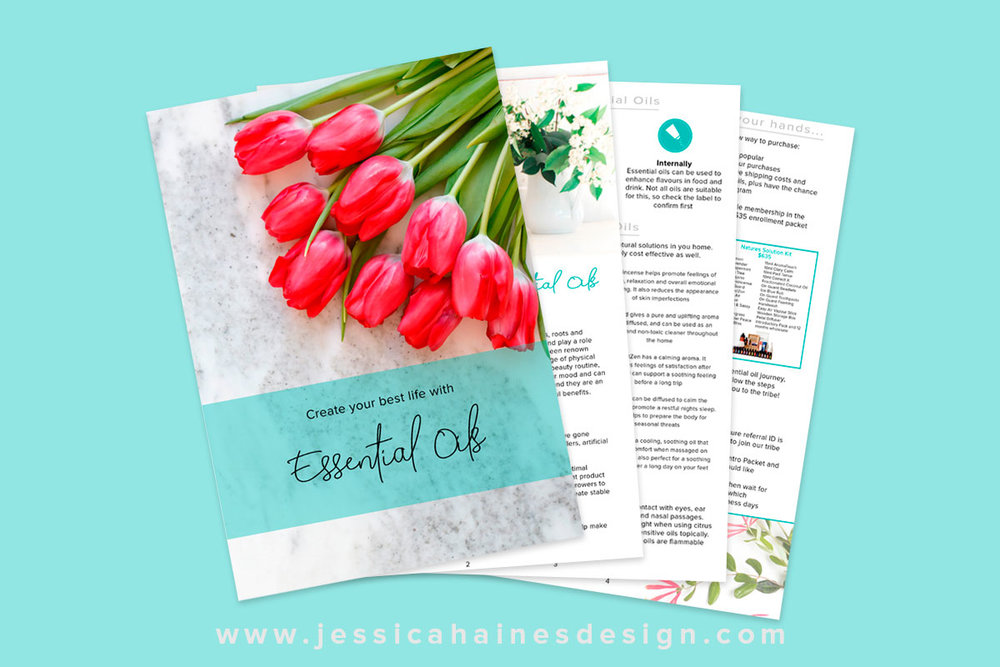 Pure Drop Essentials Email Opt In eBook. Created by Jessica Haines Design