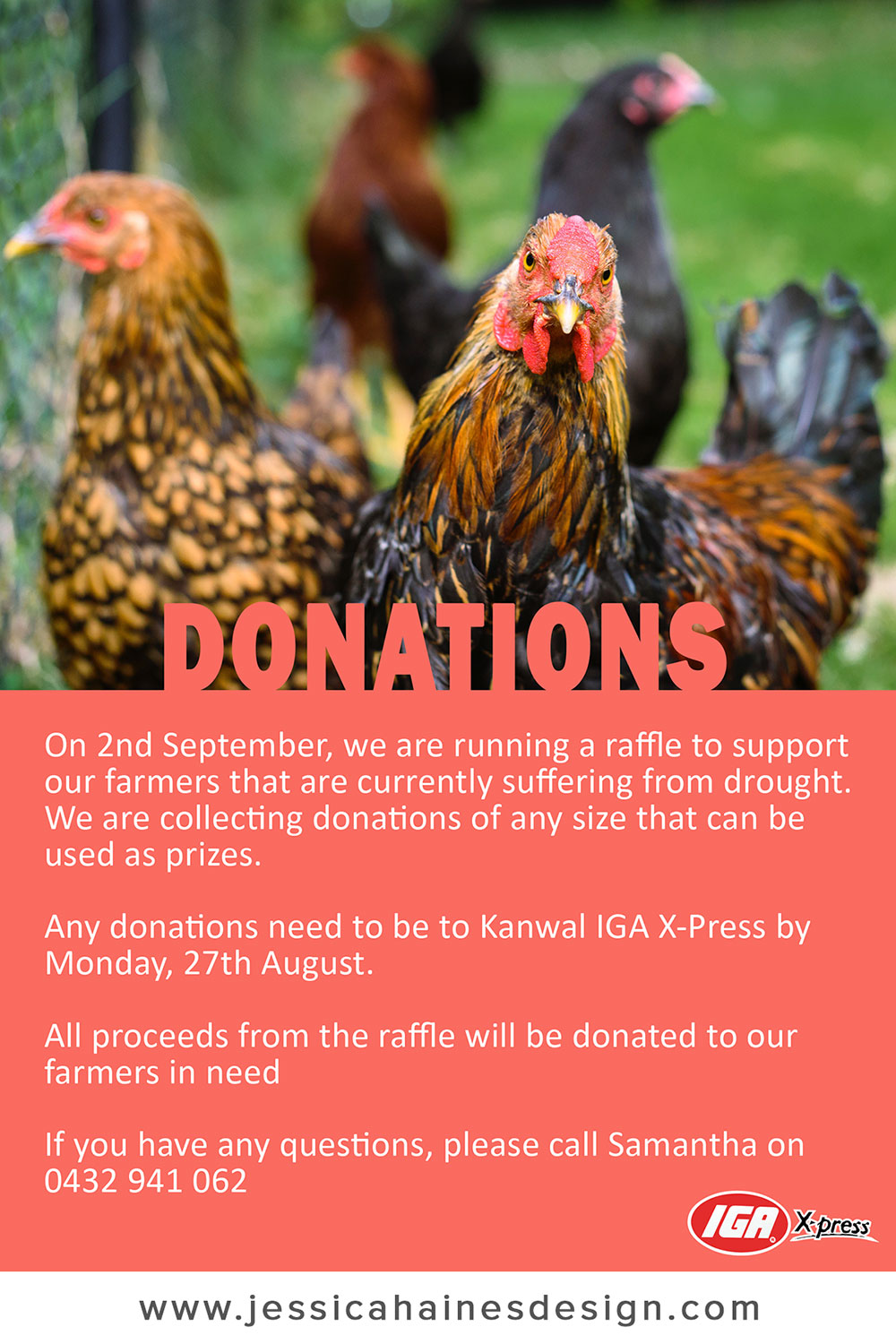 IGA XPress Drought Relief Fundraiser Donations Poster