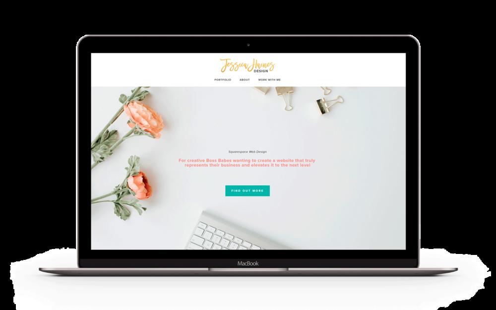 Squarespace website design for Jessica Haines Designs