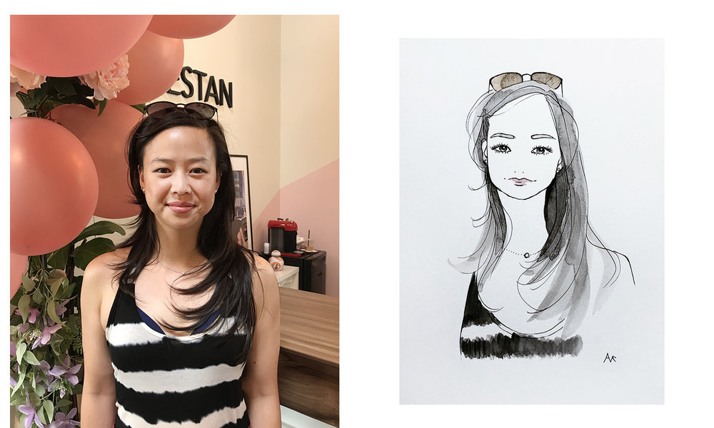 live sketching portrait
