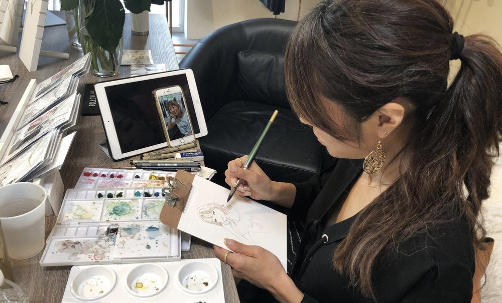 akiko kato ruiz fashion illustrator
