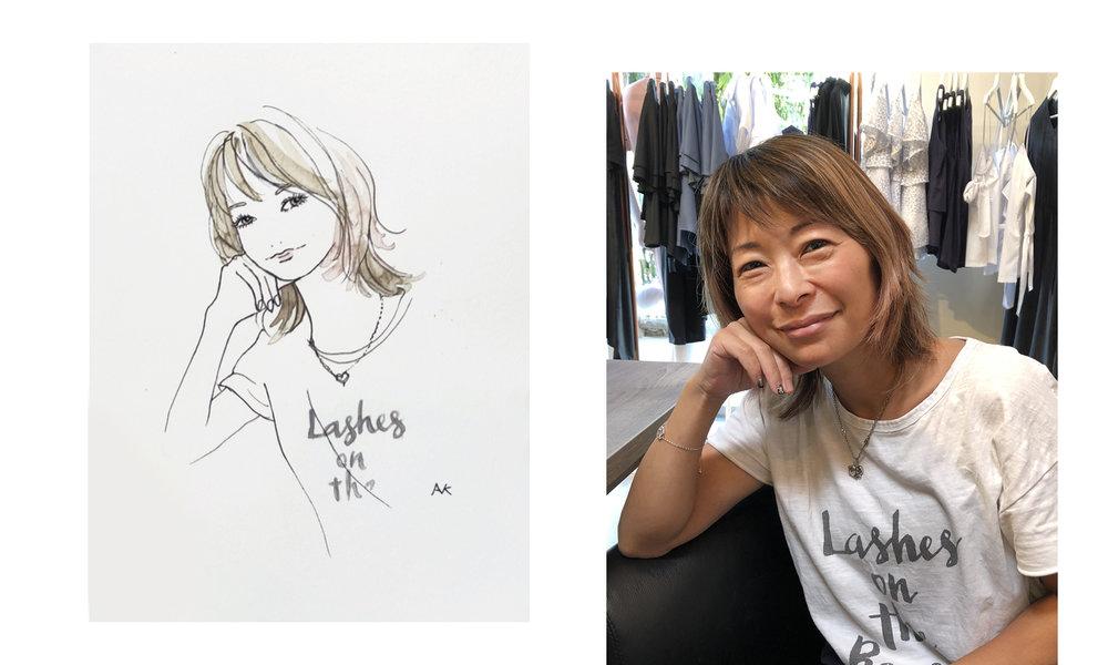 fashion live sketching