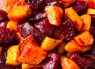 Roasted Red and Yellow Beets