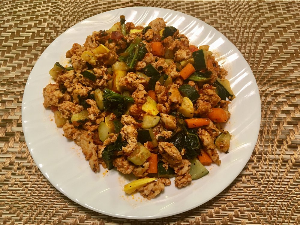 Ground Turkey Veggie Sautee