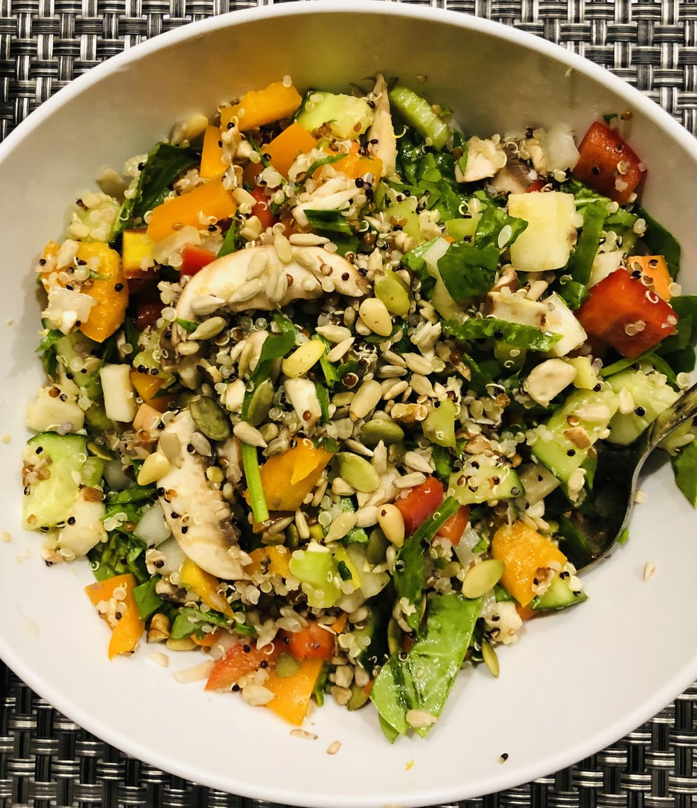 Simple Vegetarian Power Salad