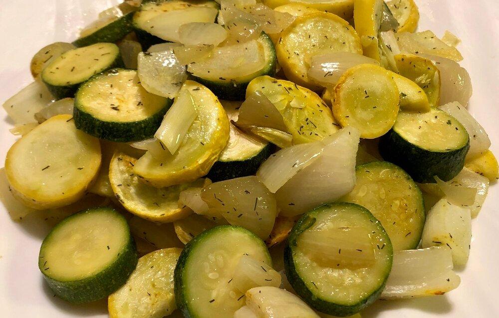 Roasted Squash and Zucchini