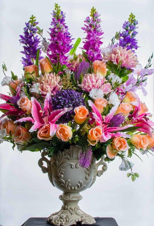 Artificial And Silk Flower Arrangement Contract Rental Hire London