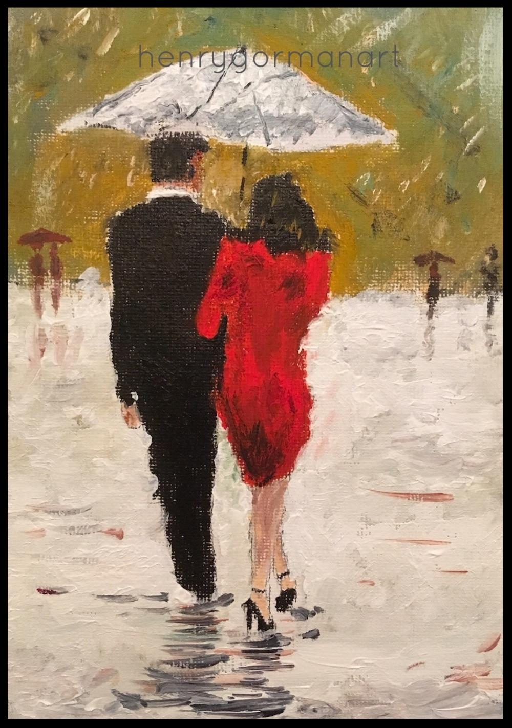 'Couple in the rain'