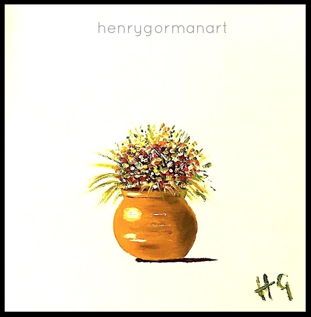 'Yellow ochre vase # 2'