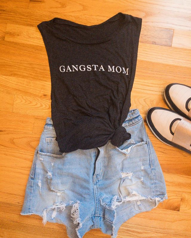 Put on some gangsta rap and handle it. #gangstamom #shopsmallhomies