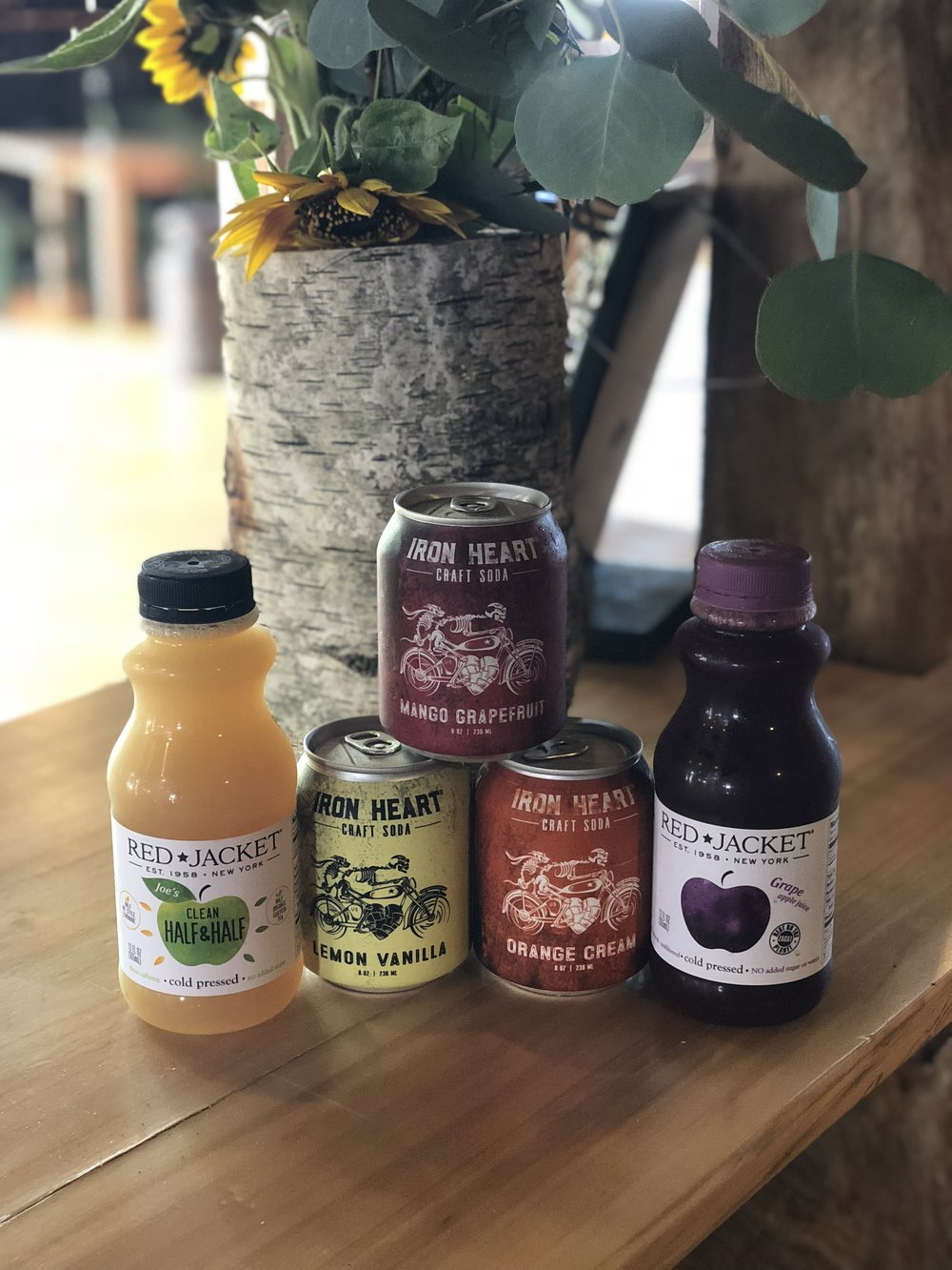 Picture of local juices and sodas served