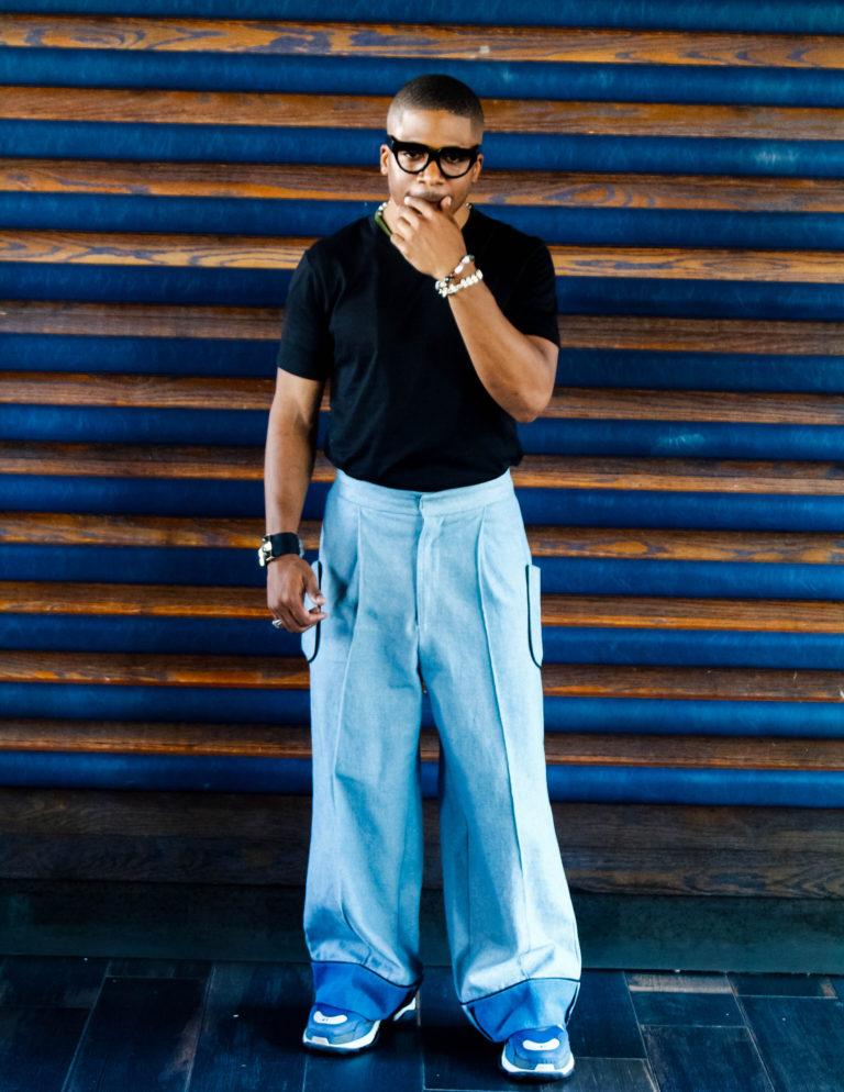 Designer Romeo Hunte, photographed by Amanda Moore-Karim