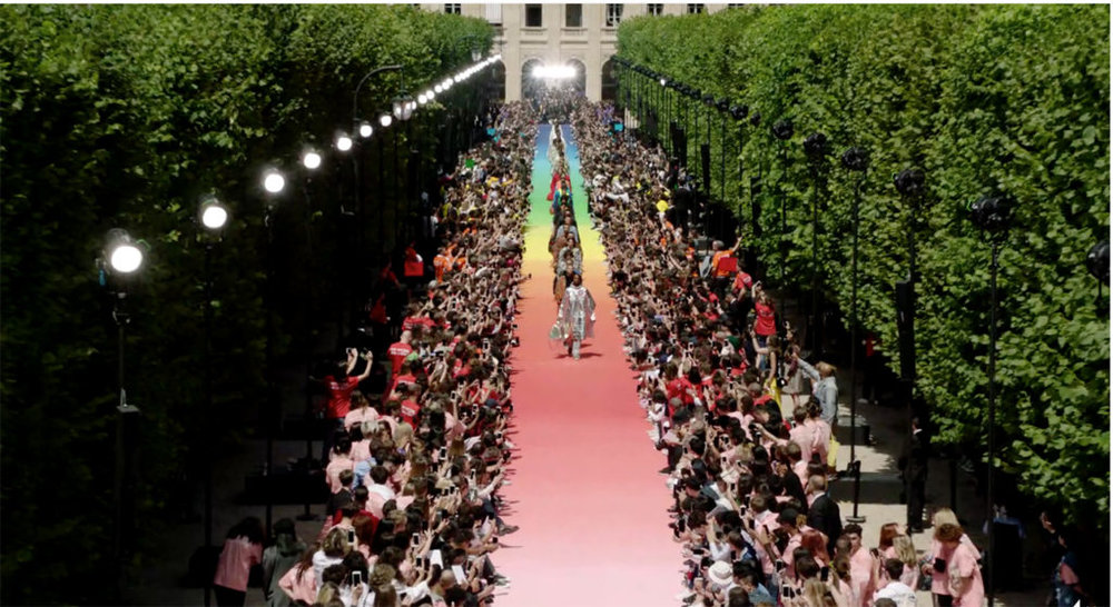 Louis Vuitton x Virgil Abloh SS19 mens RTW, Image courtesy of brandchannel