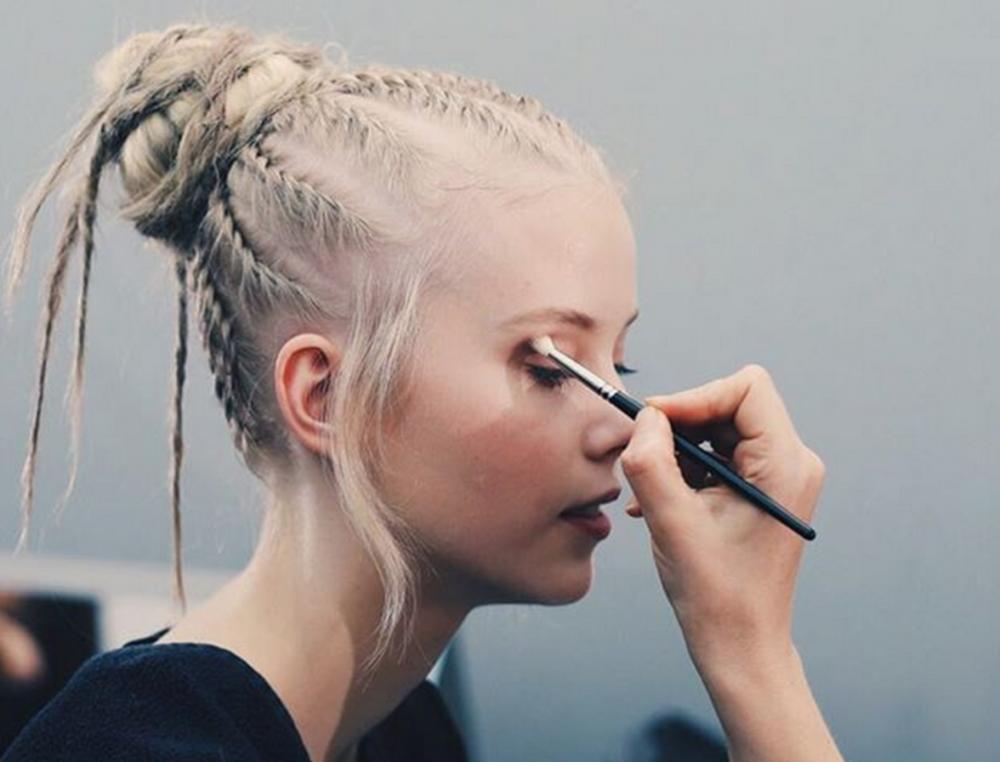Hair by Guido Palau for Christian Dior