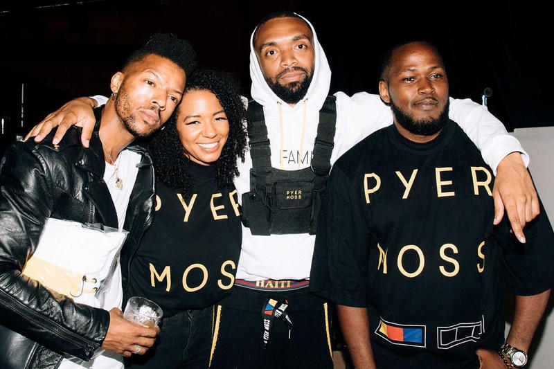 Kerby Jean-Raymond and Pyer Moss team, image via Hype Bae