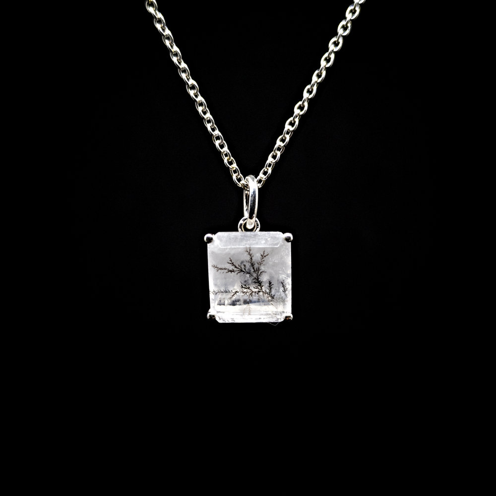 HOMAGE TO LUCIANA  Polished Silver & Dendritic Quartz