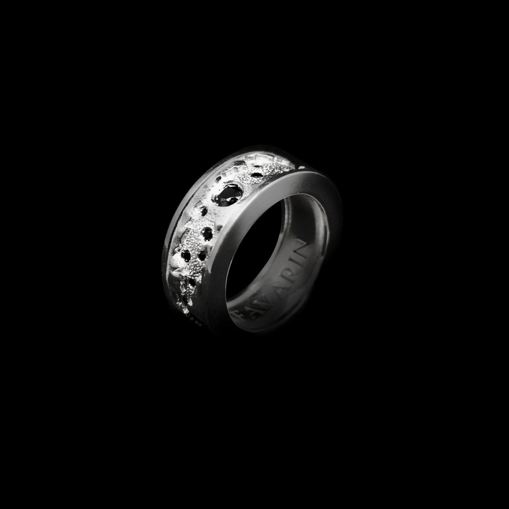 N°3  White Gold 18K & Black Diamonds 0,49 ct
