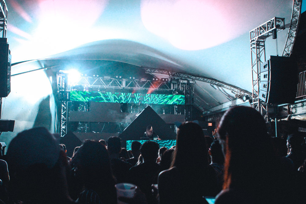 Jennifer Lee, known as TOKiMONSTA, had the crowd dancing to her hip hop-electronic music.