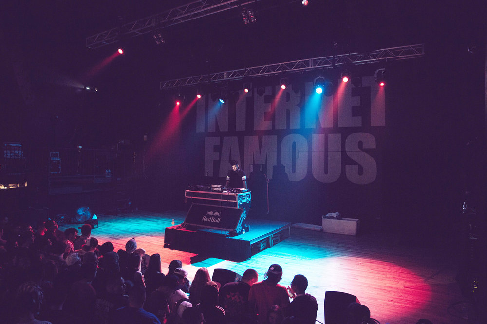 INTERNET FAMOUS performing at The Marc, Photo by Zach Villafana