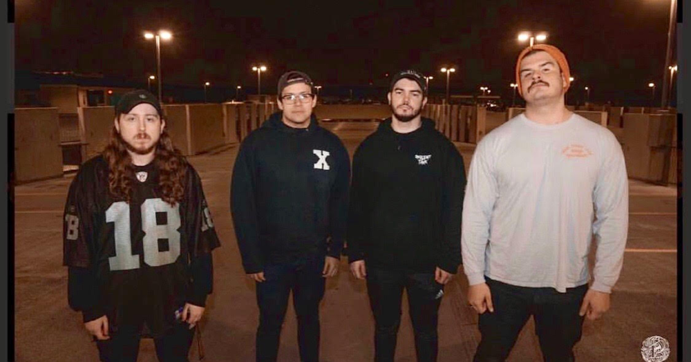 From left to right: Michael Fischer (Mikey)-Drums, Christian McGahan (Churst)- Vocals, Bryce Holloway (Bryson)-Guitar, Chase Casillas (Boomer)- Bass. Photo by Gabriel Andre, Pillajer Productions.