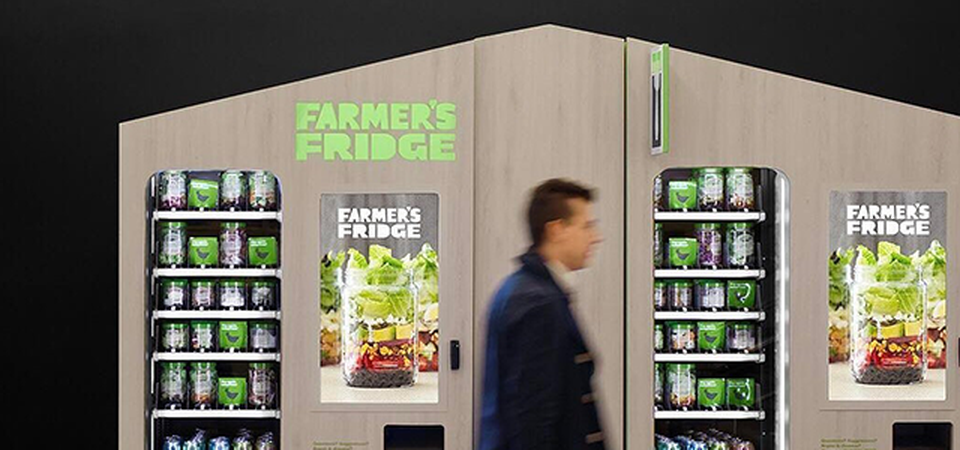 Farmer's Fridge is one of five Chicago companies to raise capital last year in the clean and simple consumer packaged goods space. PC: Farmer's Fridge