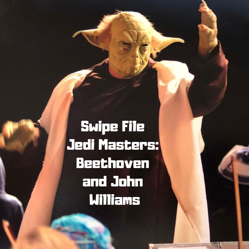 Yep, that's me dressed as Yoda. I'm conducting 'Star Wars' music during the Timpanogos Symphony Orchestra's 2017 Halloween Concert.