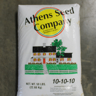 Athens Seed Company 10-10-10 Fertilizer