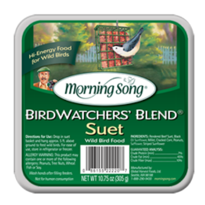 Morning Song Bird Watcher's Blend Suet